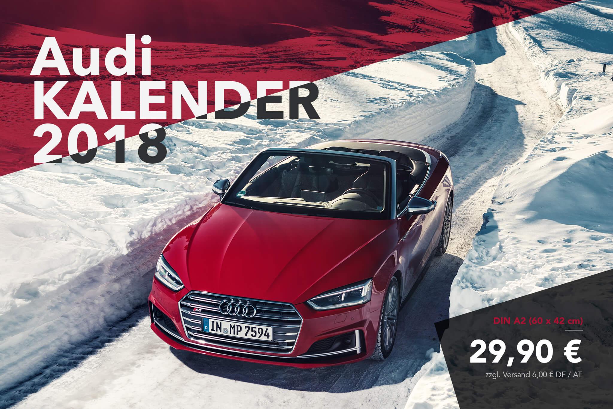 Audi Kalender 2018 - Audi S5 Cabrio