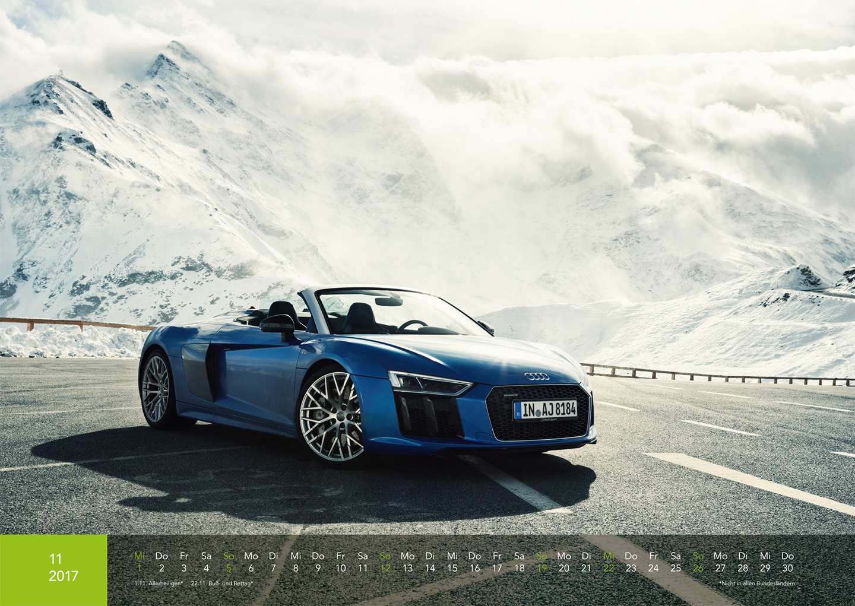 Audi Kalender 2017 - R8 Spyder