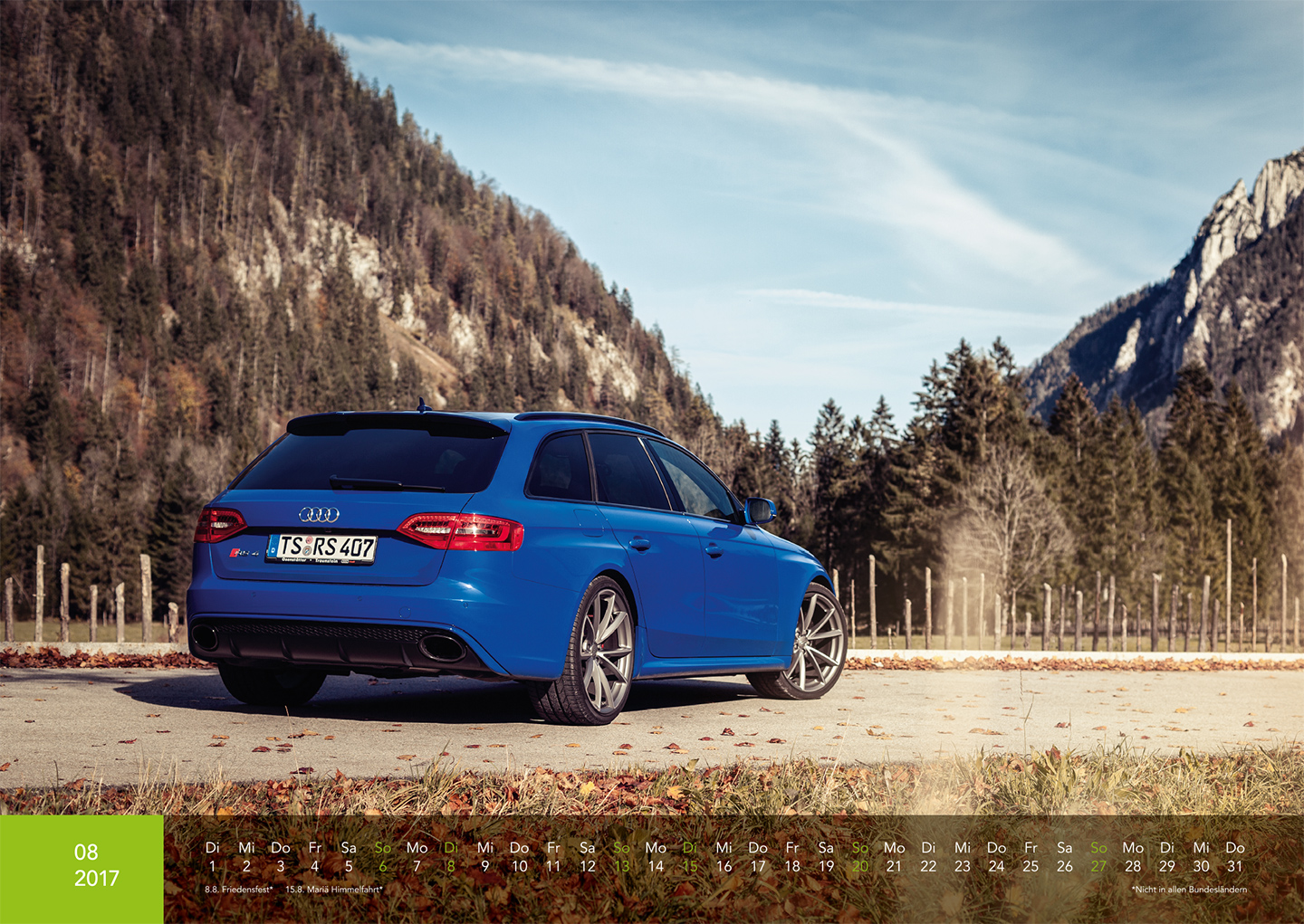 Audi Kalender 2017 - Audi RS4 Nogaro Selection
