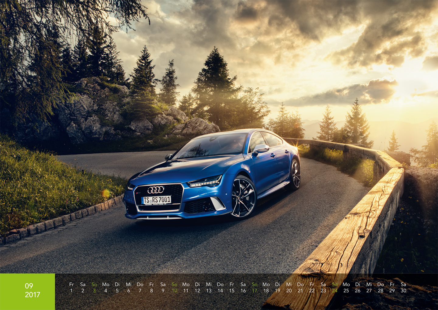 Audi Kalender 2017 - Audi RS7 Performance