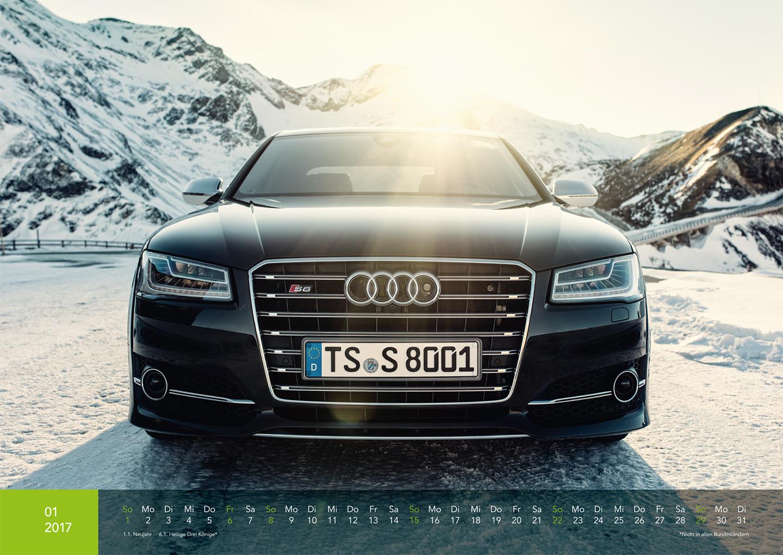Audi Kalender 2017 - Audi S8