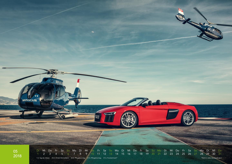 Audi Kalender 2018 - Audi R8 Spyder