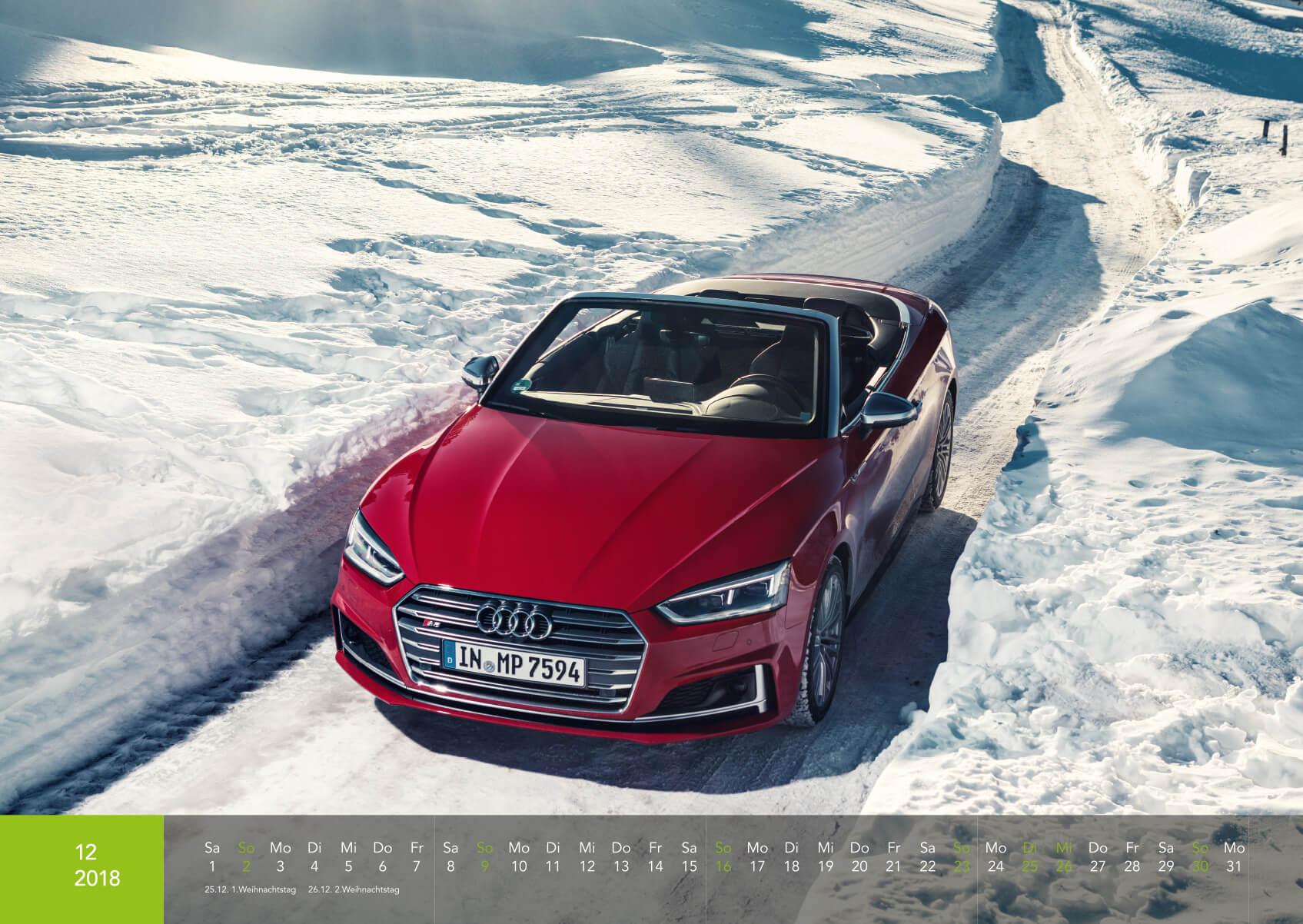 Audi Kalender 2018 - S5 Cabrio