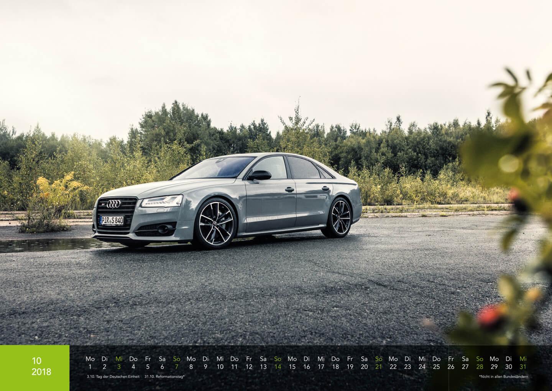 Audi Kalender 2018 - S8 Plus Exclusive