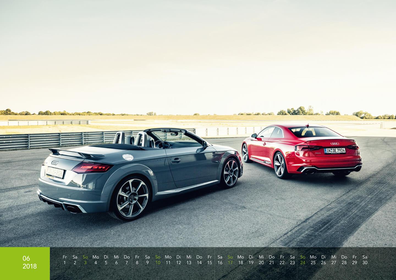 Audi Kalender 2018 - Audi TTRS Roadster + RS5