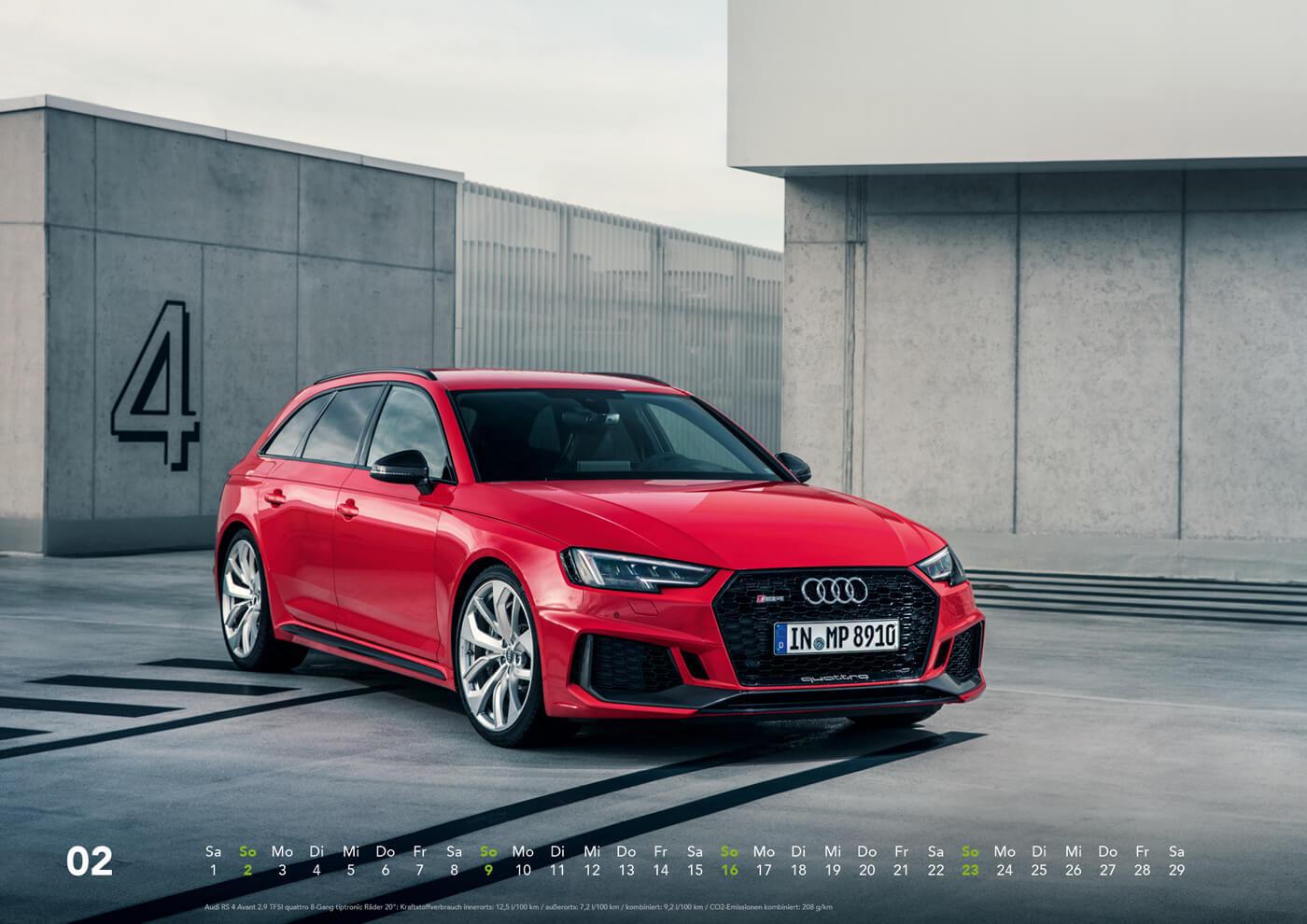 Audi Kalender 2020 DIN A2 / DIN A3 - Audi S / RS / R8 ...