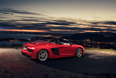 Audi R8 Spyder Car Shooting LaTurbie