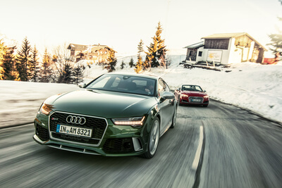Audi RS7 Sportback Wintershooting