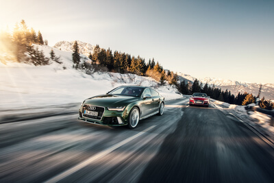 Audi RS7 Sportback Car2Car Shooting