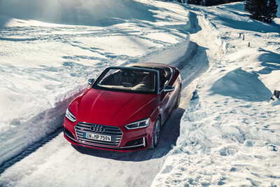 Audi S5 Cabrio im Winter