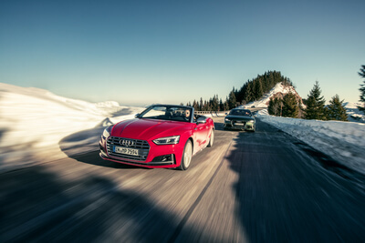 Audi S5 Cabrio Car2Car Shooting
