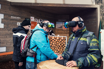 Virtual Reality - VR Brille - Biathlon Ruhpolding 2018